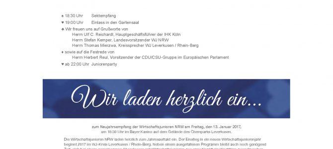 Neujahrsempfang der WJ Nordrhein-Westfalen